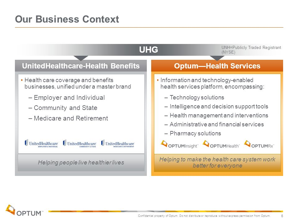 UnitedHealthcare-Health Benefits Optum—Health Services
