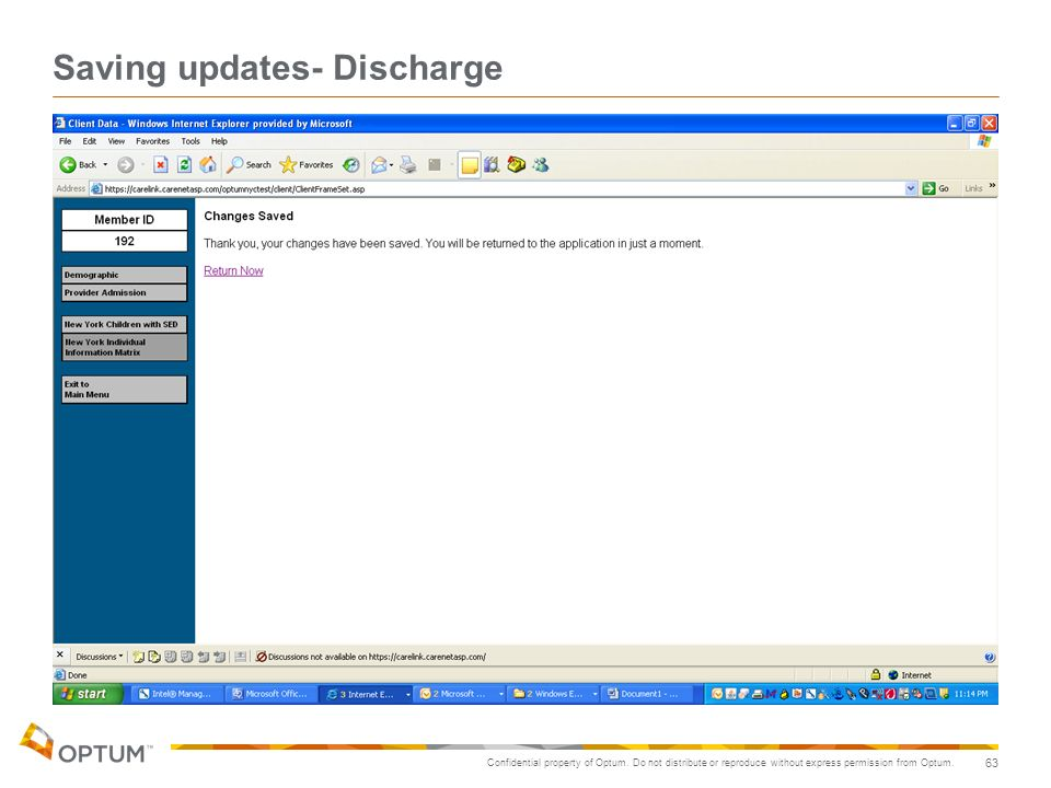 Saving updates- Discharge