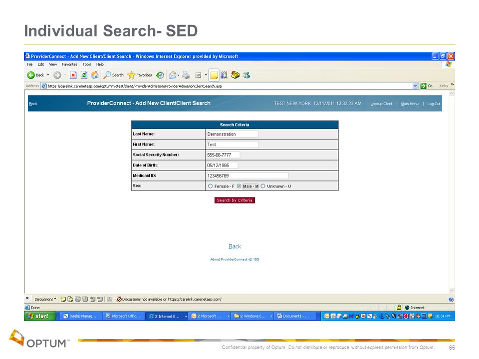 Individual Search- SED