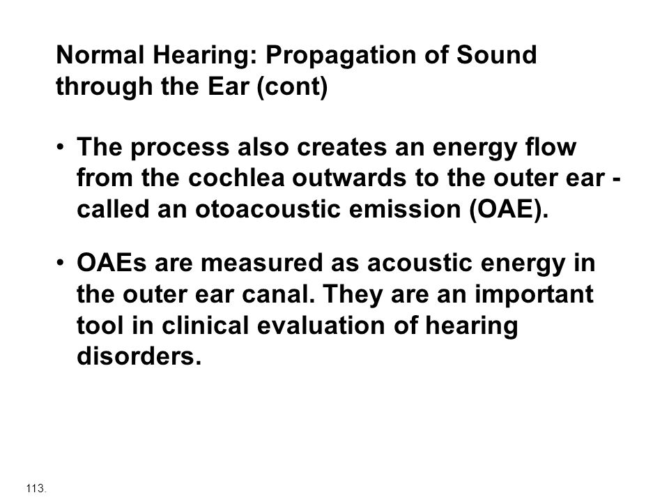 Normal Hearing: Propagation of Sound