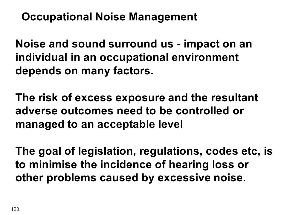 Occupational Noise Management