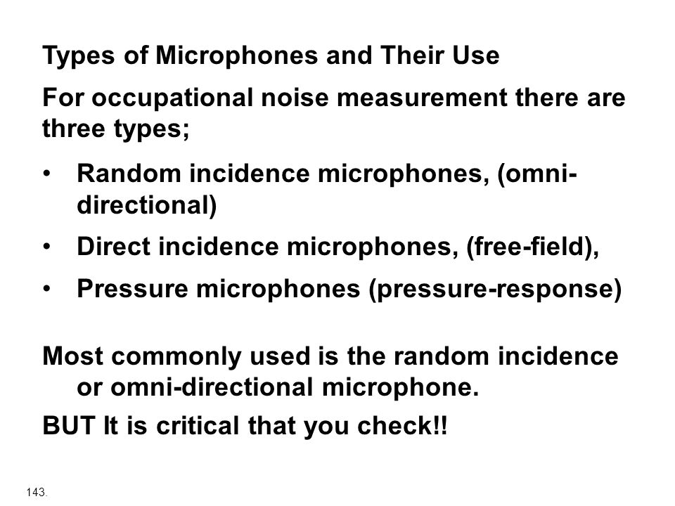 Types of Microphones and Their Use