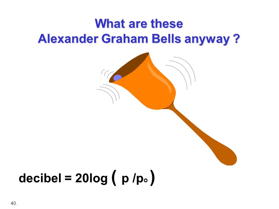 What are these Alexander Graham Bells anyway