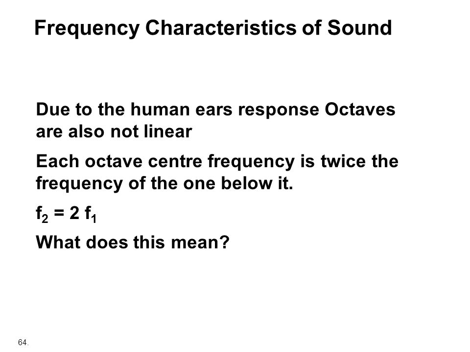 Frequency Characteristics of Sound