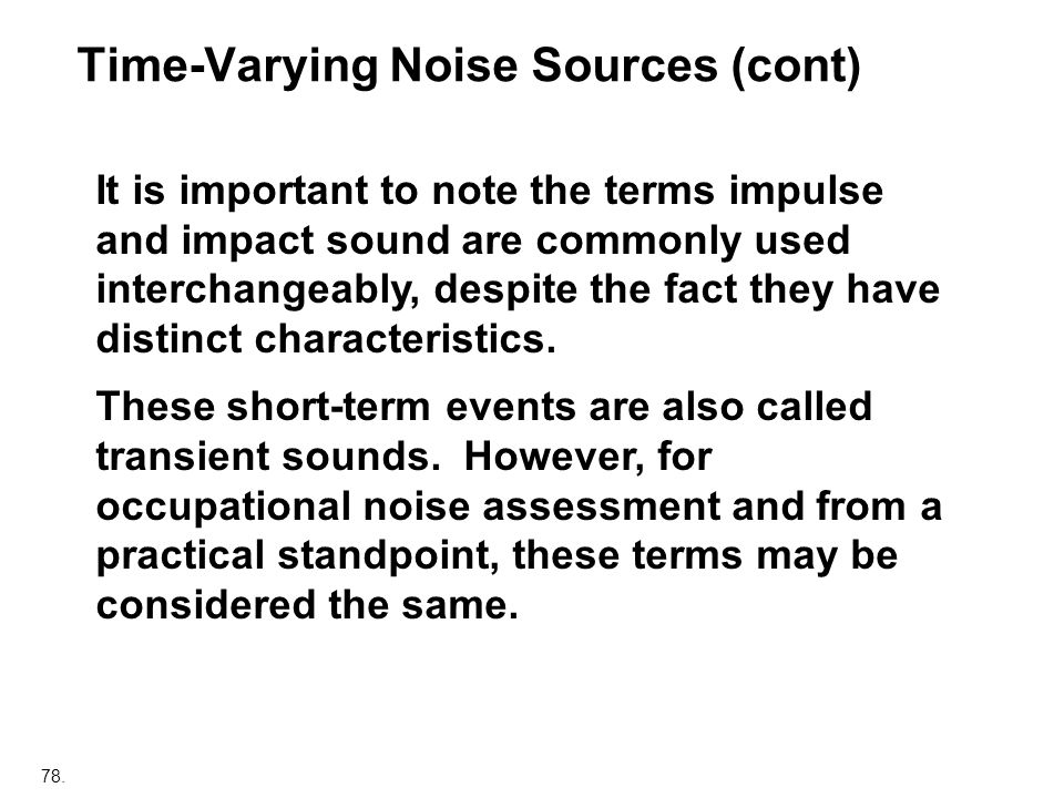 Time-Varying Noise Sources (cont)
