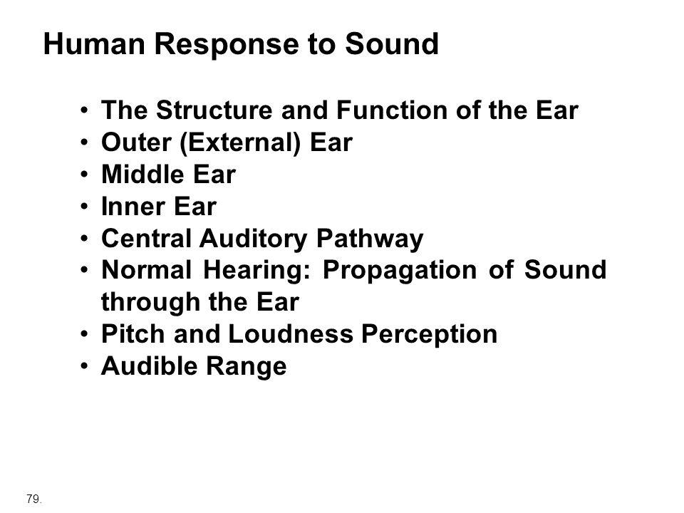 Human Response to Sound