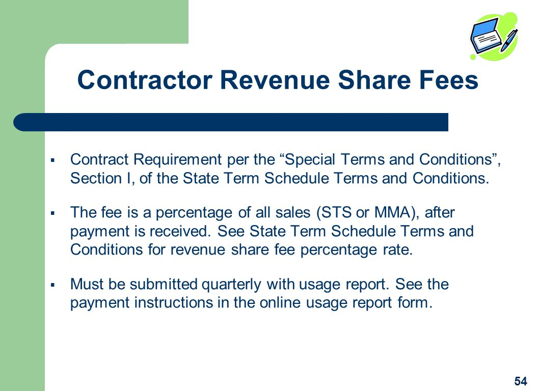 Contractor Revenue Share Fees