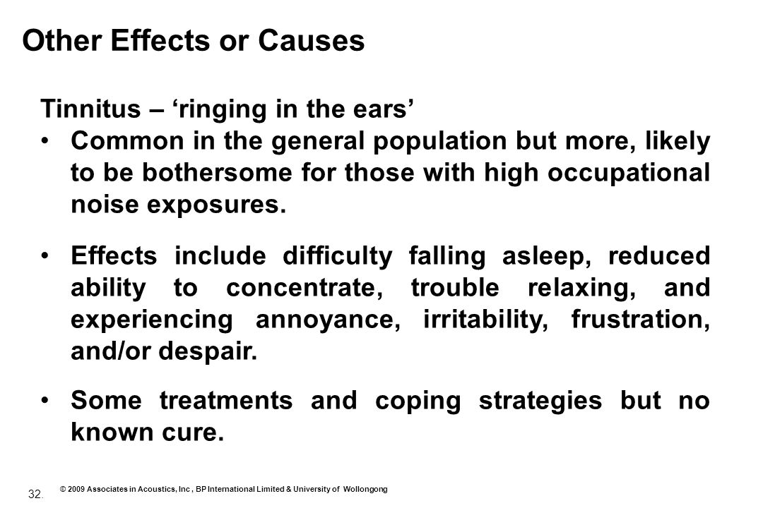 Other Effects or Causes
