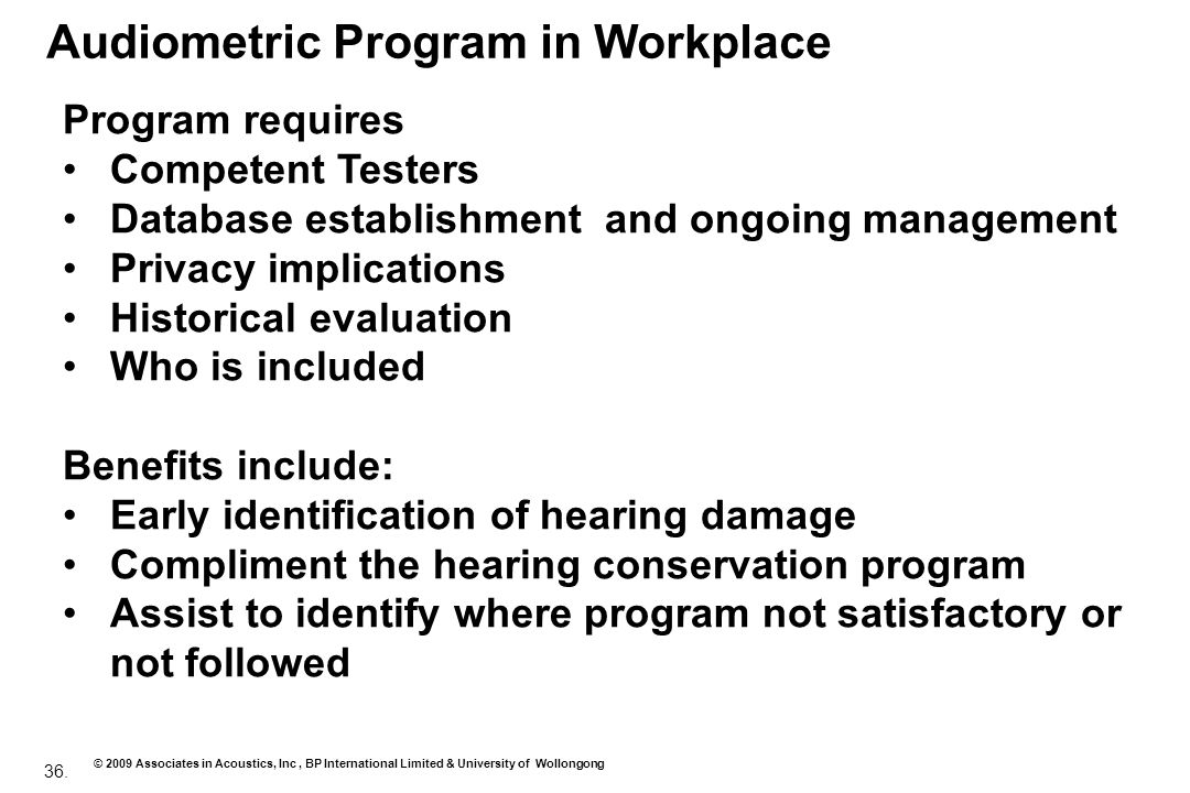 Audiometric Program in Workplace