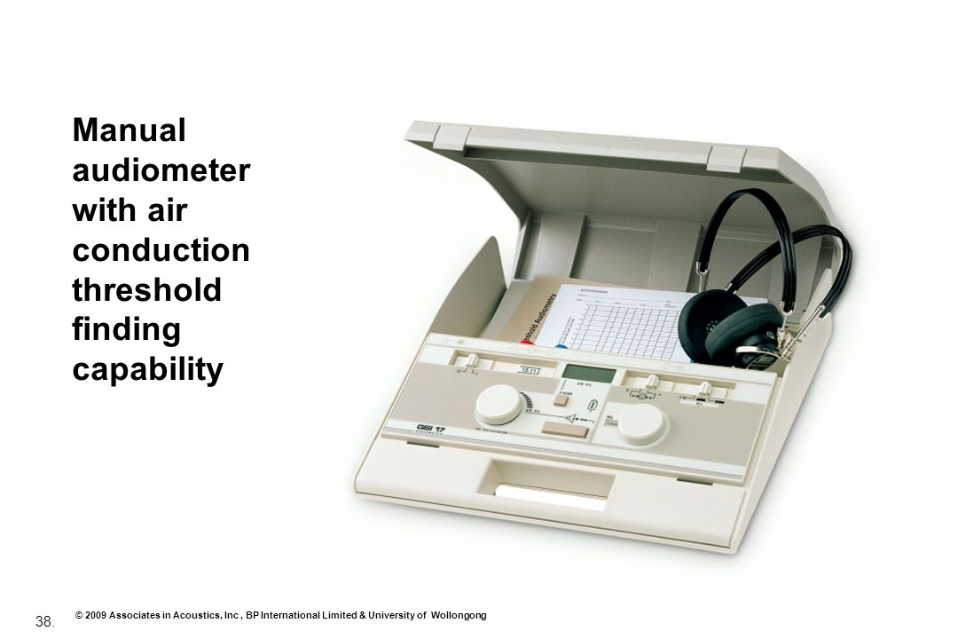Manual audiometer with air conduction threshold finding capability