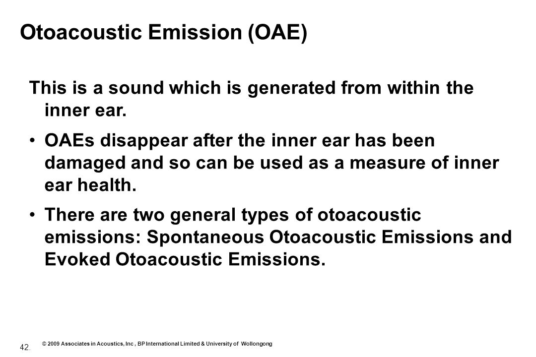 Otoacoustic Emission (OAE)