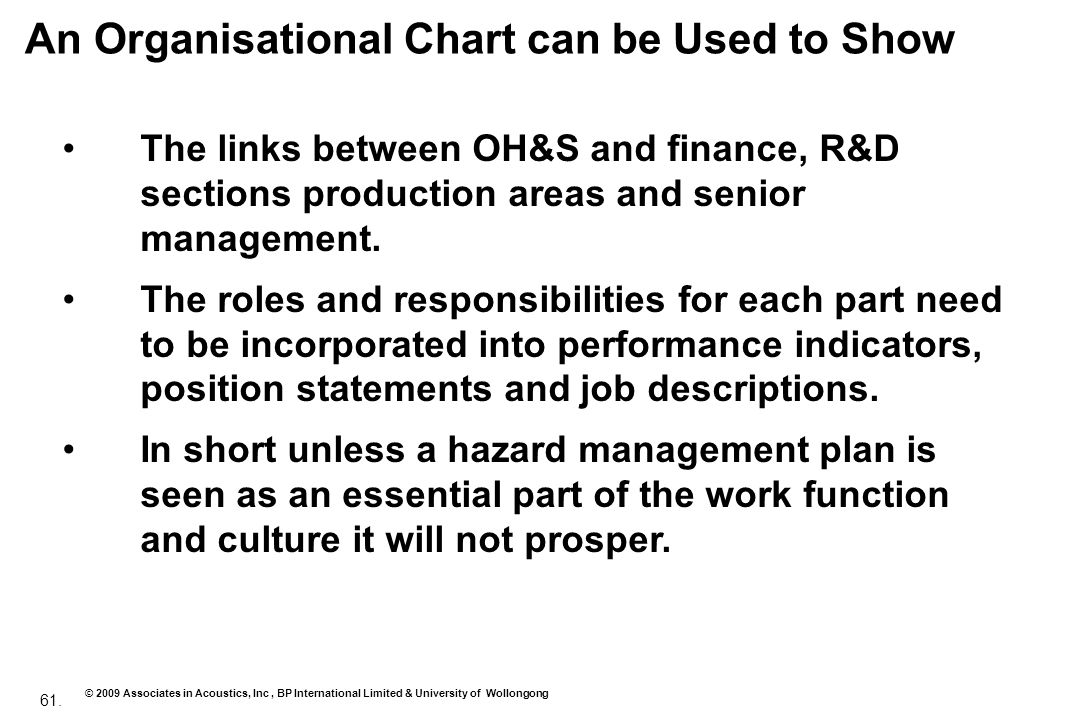 An Organisational Chart can be Used to Show