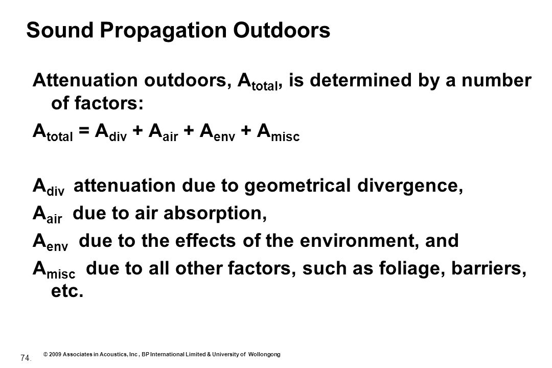 Sound Propagation Outdoors