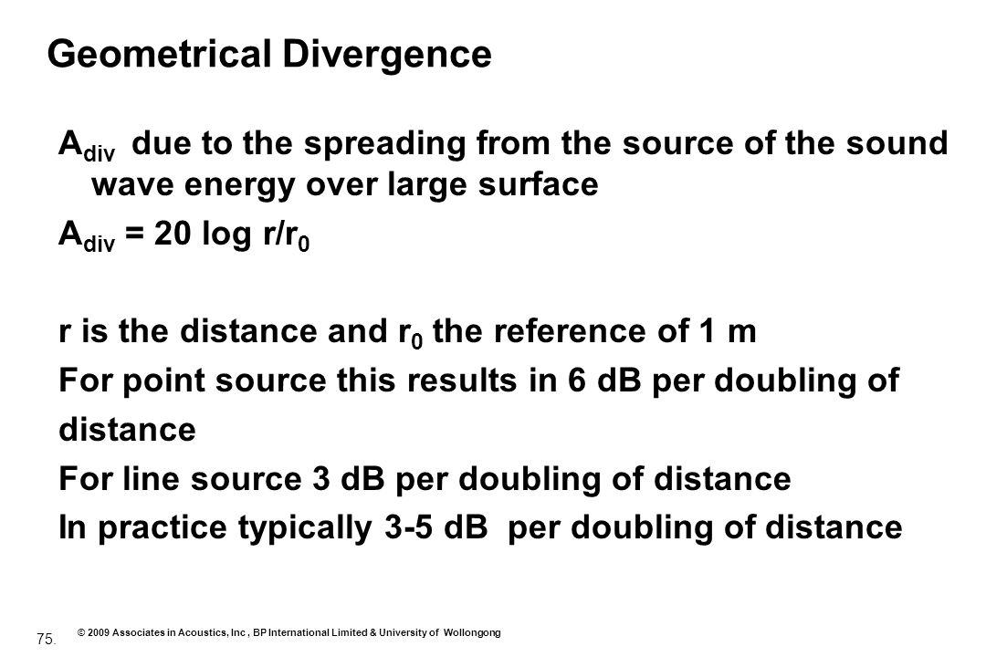 Geometrical Divergence