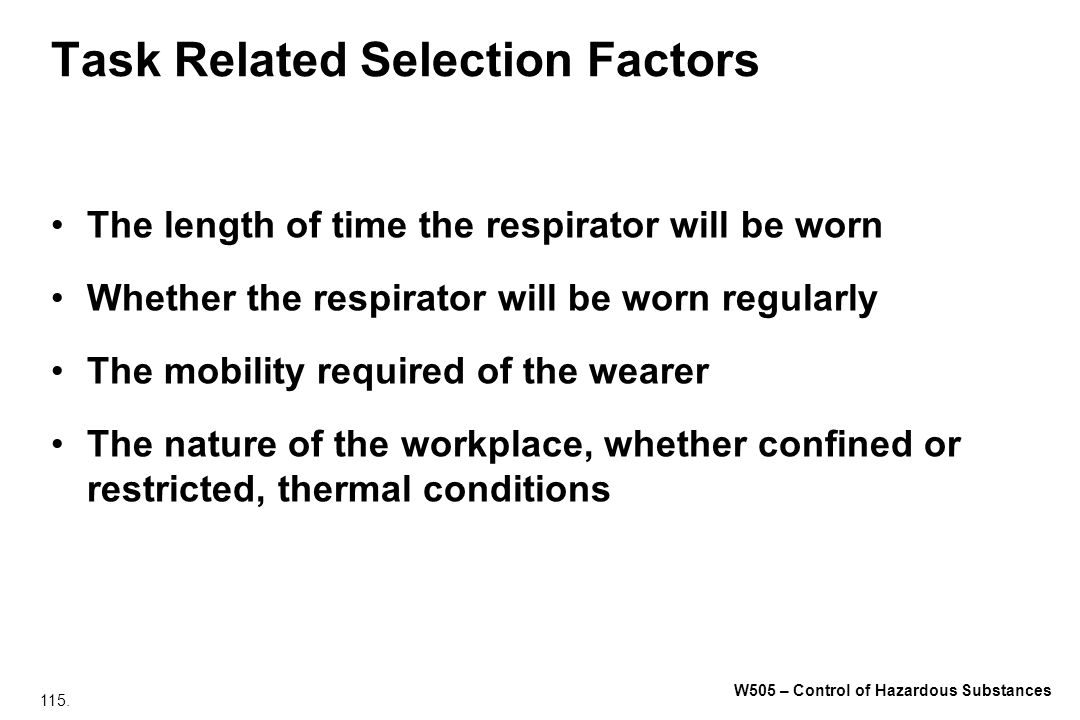 Task Related Selection Factors