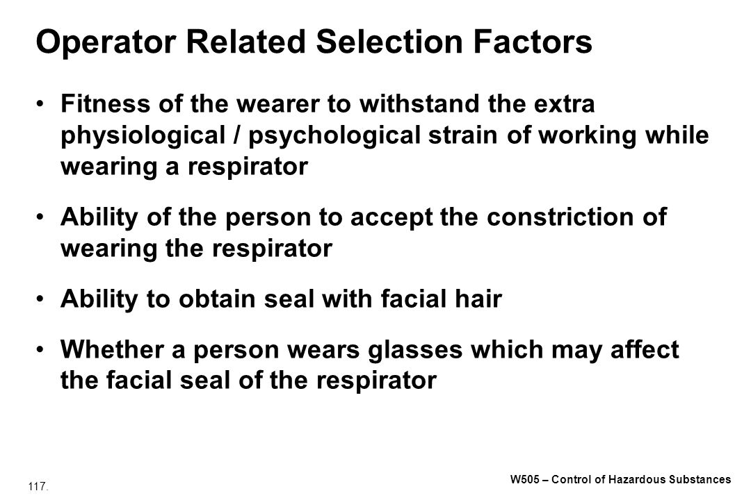 Operator Related Selection Factors