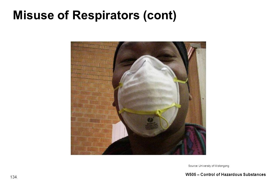 Misuse of Respirators (cont)