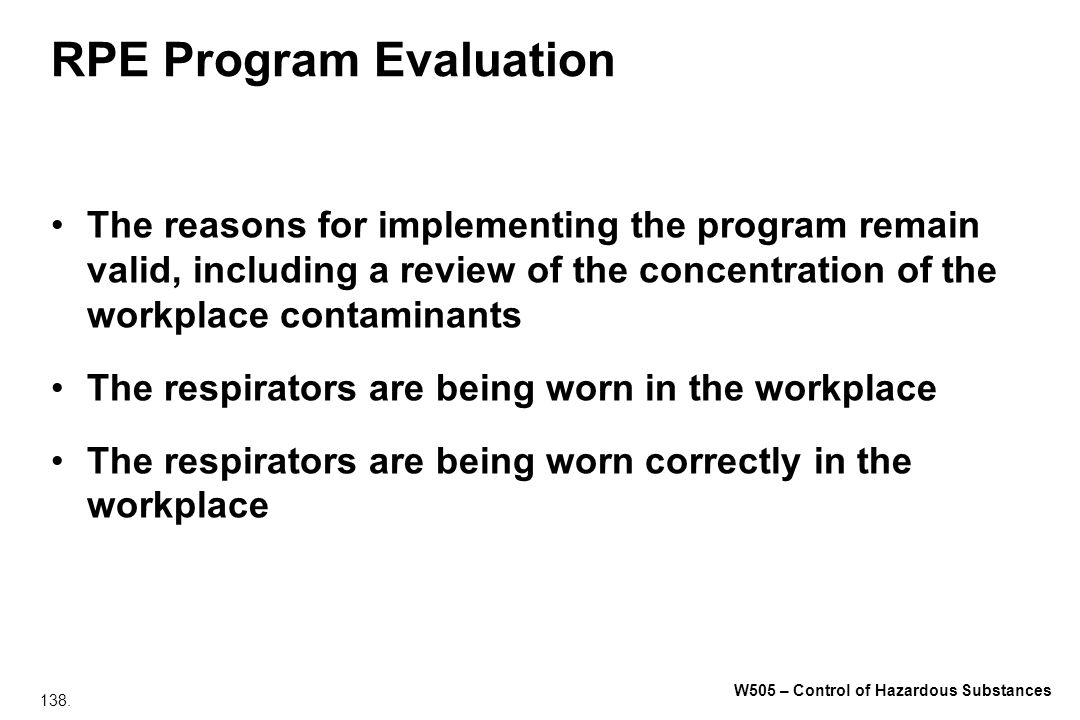 RPE Program Evaluation