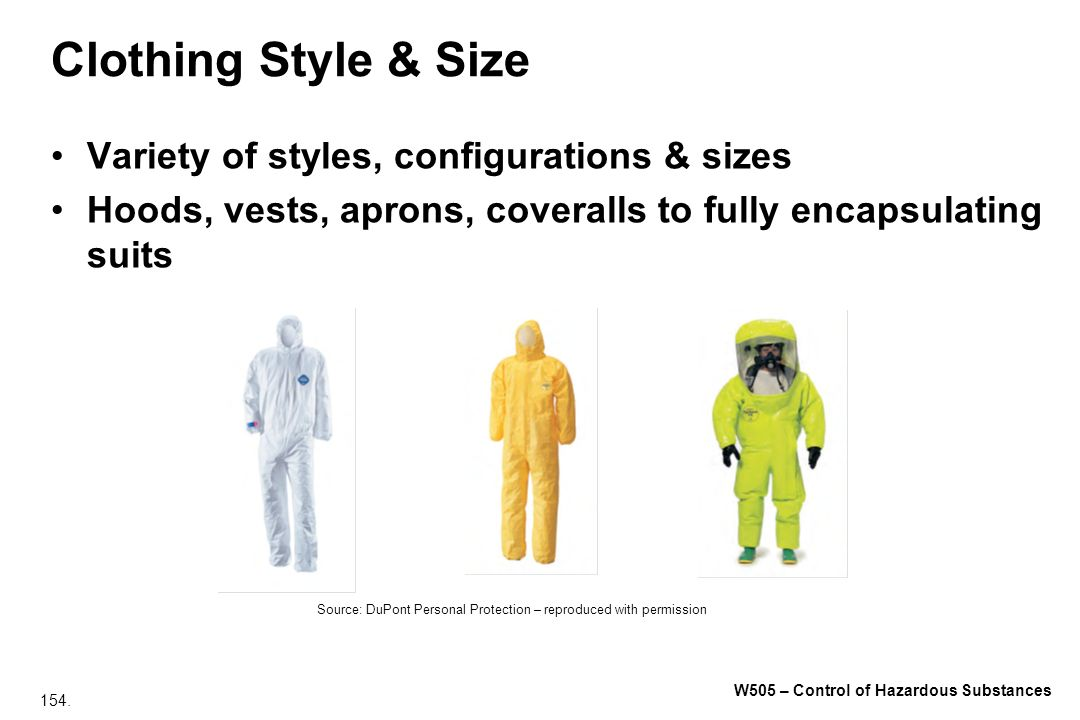 Clothing Style & Size Variety of styles, configurations & sizes