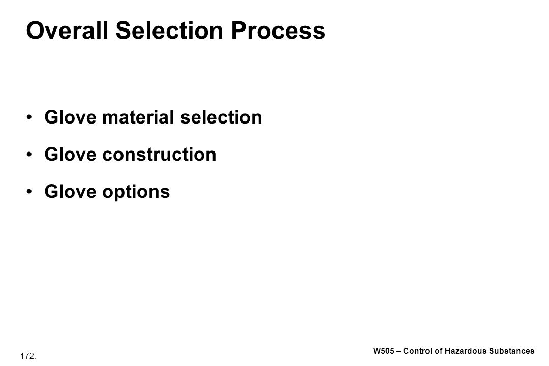 Overall Selection Process