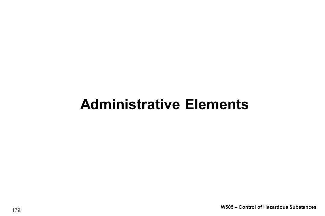 Administrative Elements