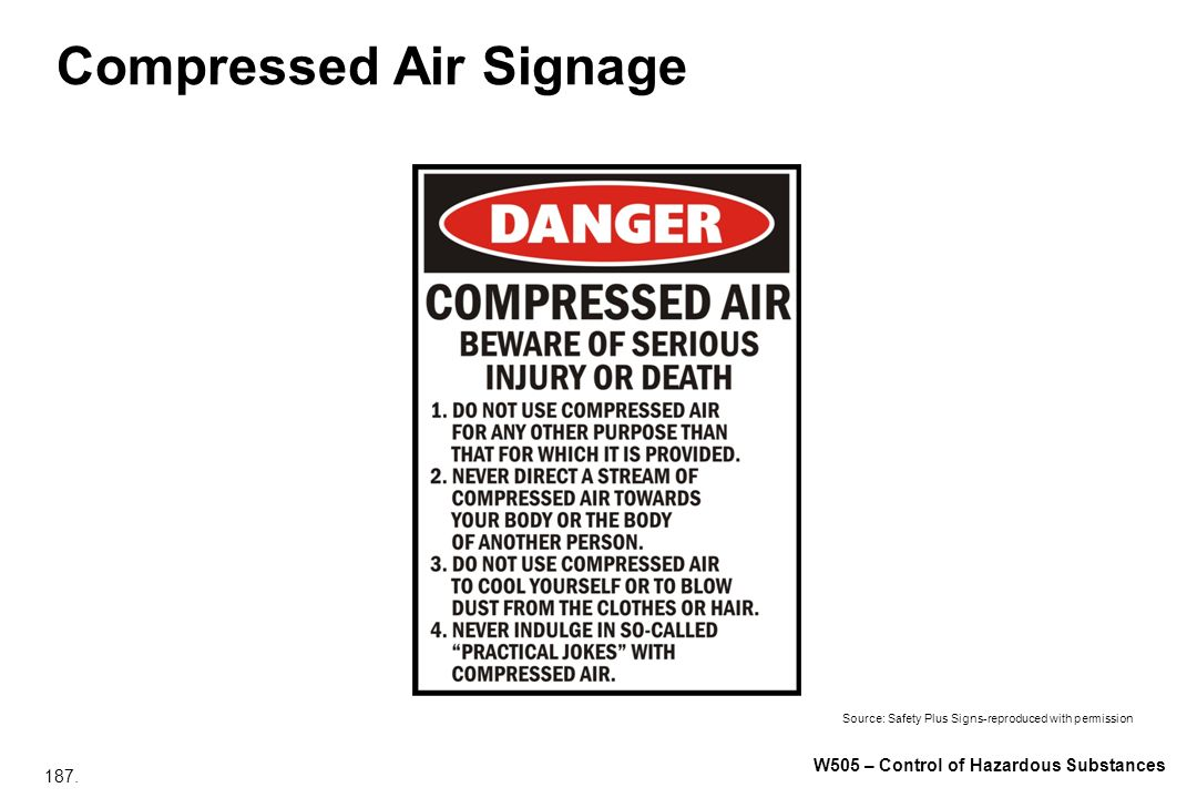 Compressed Air Signage