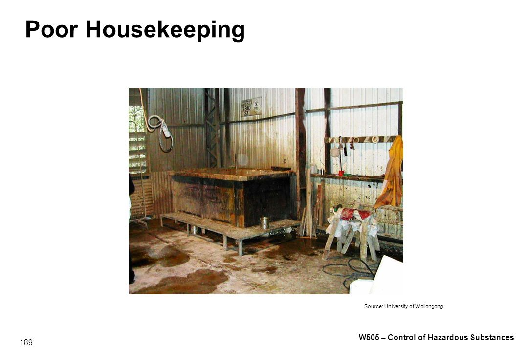 Poor Housekeeping Varnish removing tank – Methylene Chloride