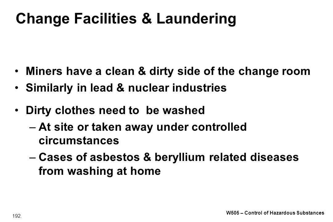 Change Facilities & Laundering