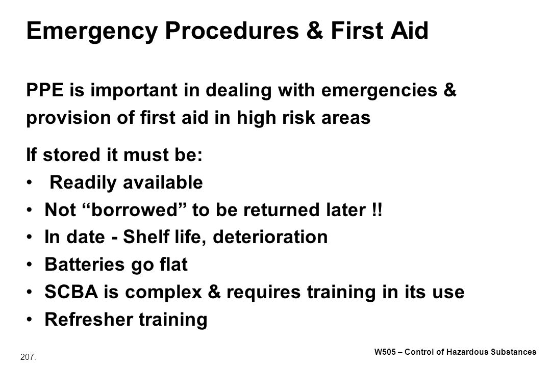 Emergency Procedures & First Aid