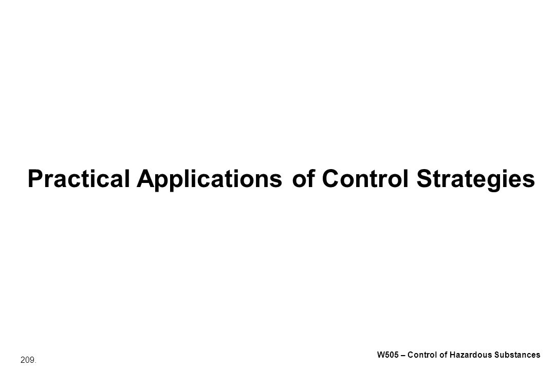 Practical Applications of Control Strategies