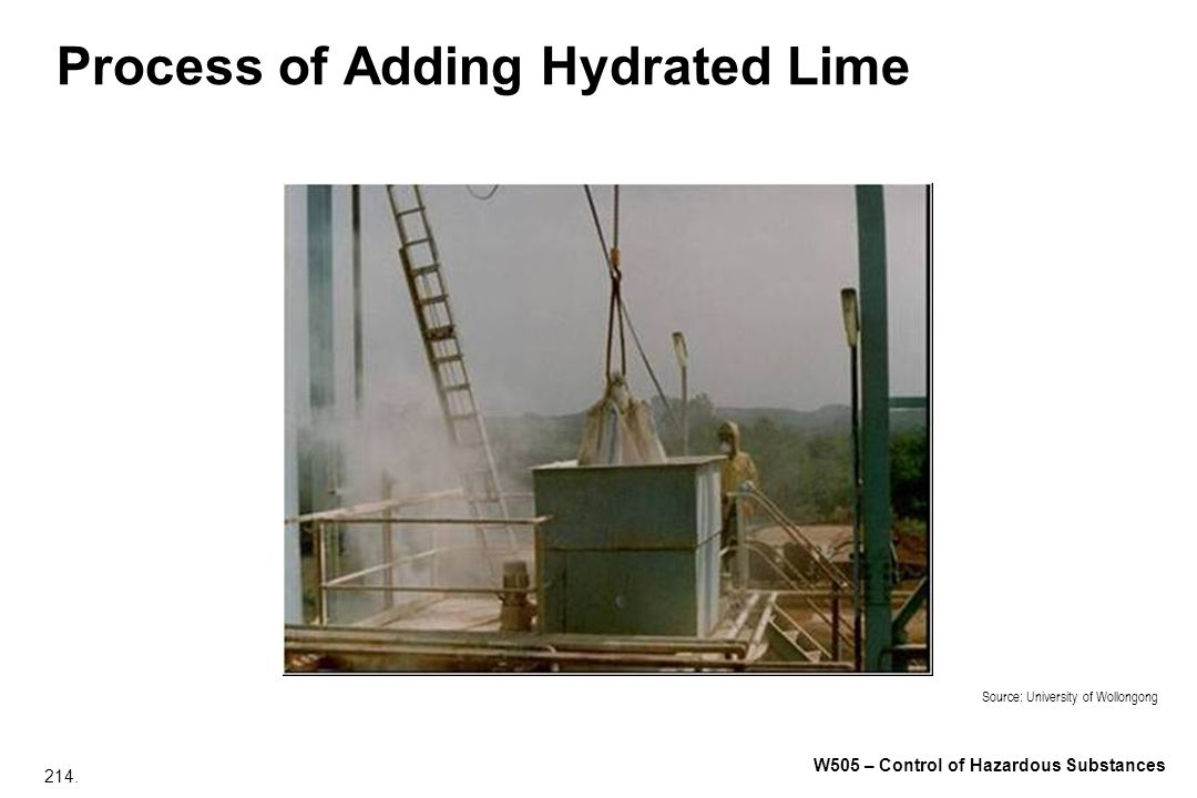 Process of Adding Hydrated Lime