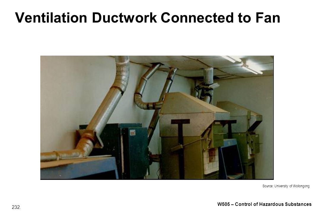 Ventilation Ductwork Connected to Fan