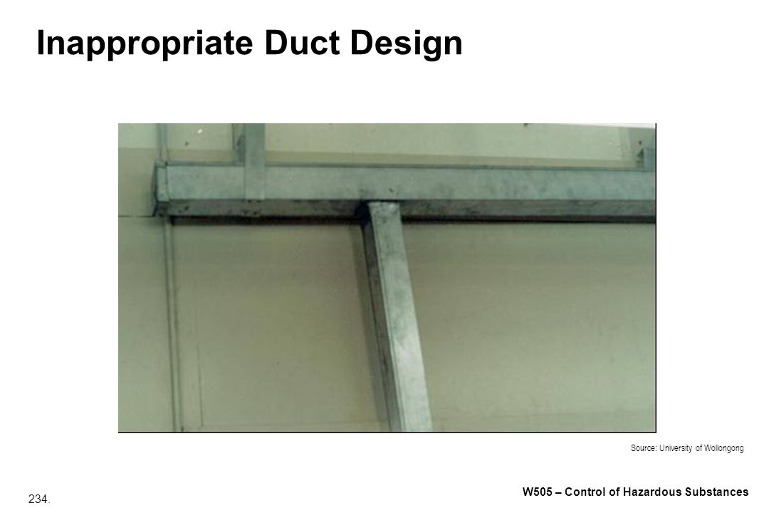 Inappropriate Duct Design