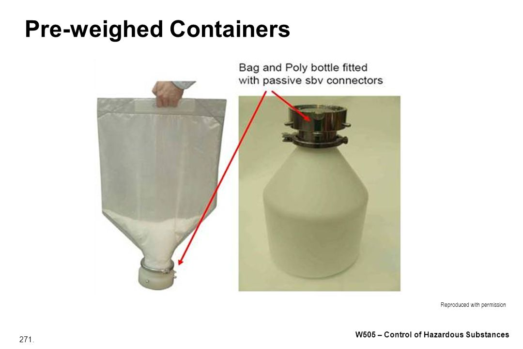 Pre-weighed Containers