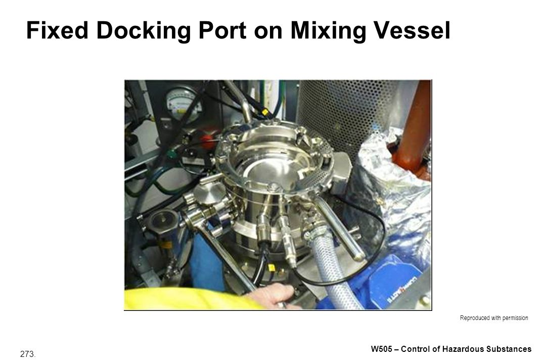 Fixed Docking Port on Mixing Vessel