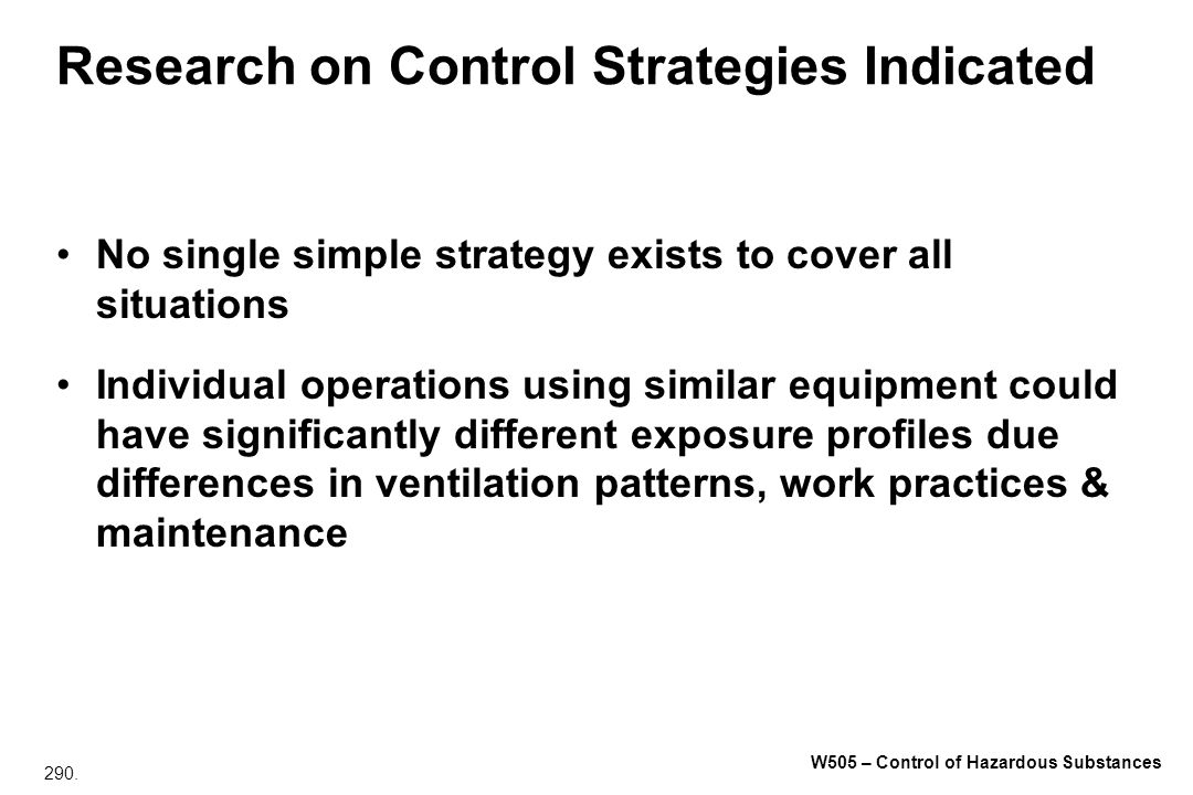 Research on Control Strategies Indicated