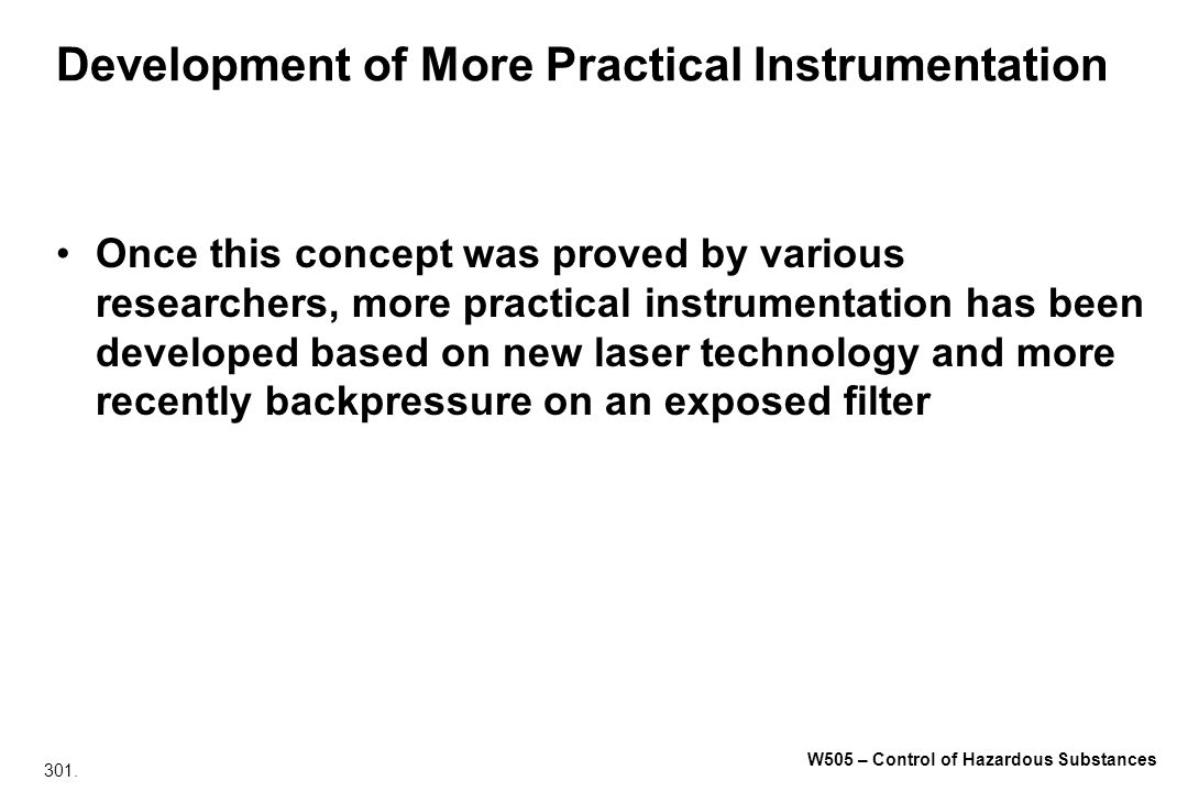 Development of More Practical Instrumentation