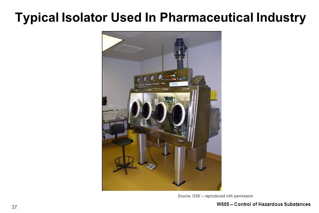 Typical Isolator Used In Pharmaceutical Industry