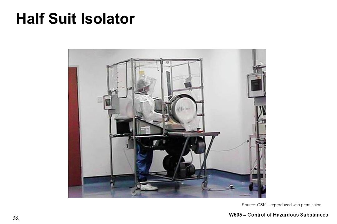 Half Suit Isolator Source: GSK – reproduced with permission