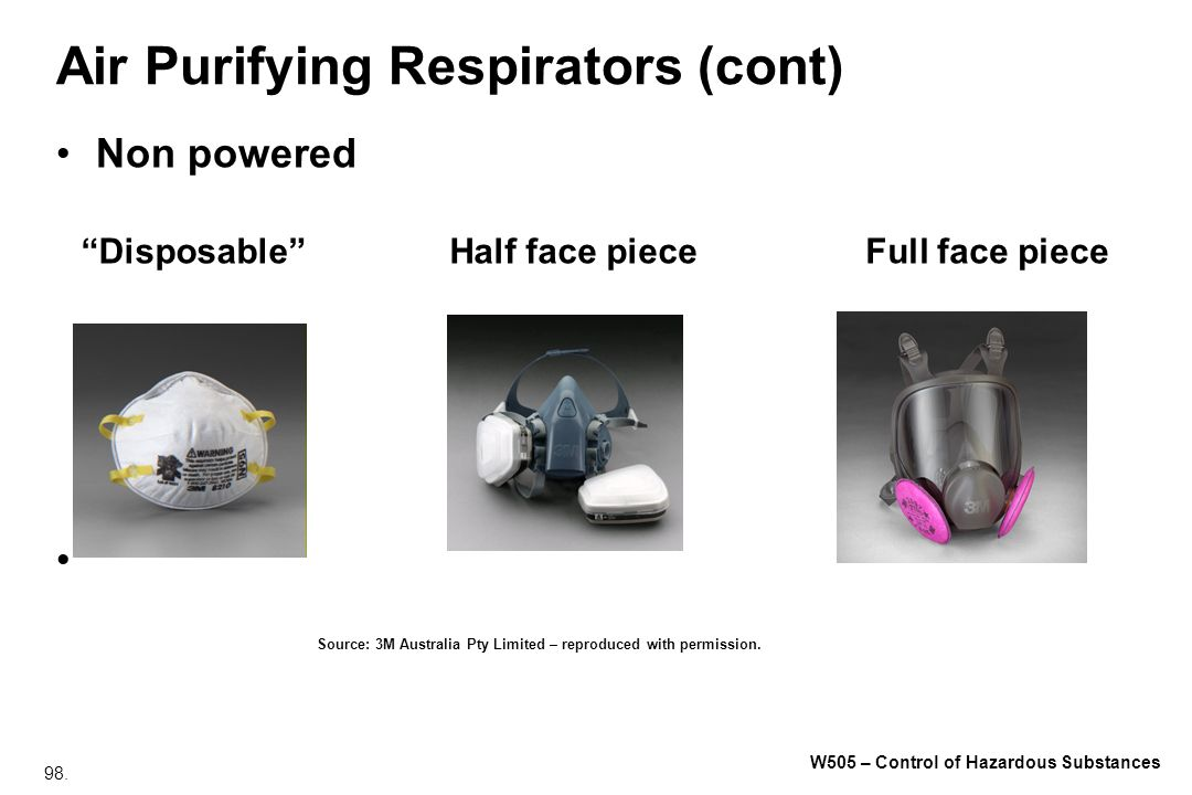 Air Purifying Respirators (cont)