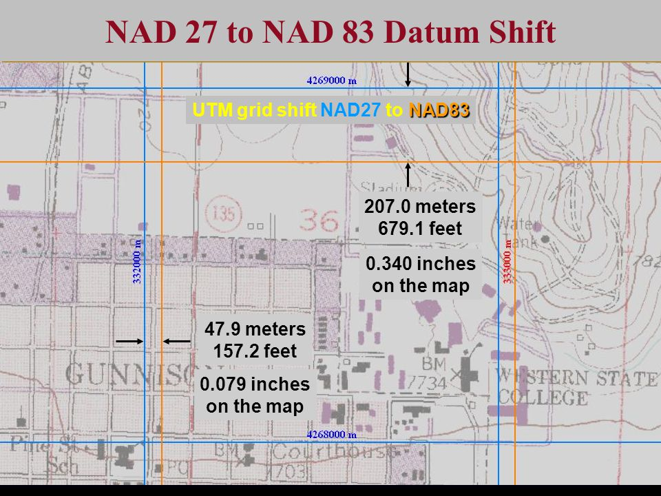 NAD 27 to NAD 83 Datum Shift UTM grid shift NAD27 to NAD83