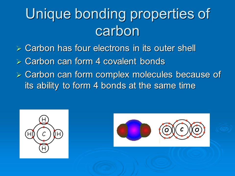 Unique bonding properties of carbon