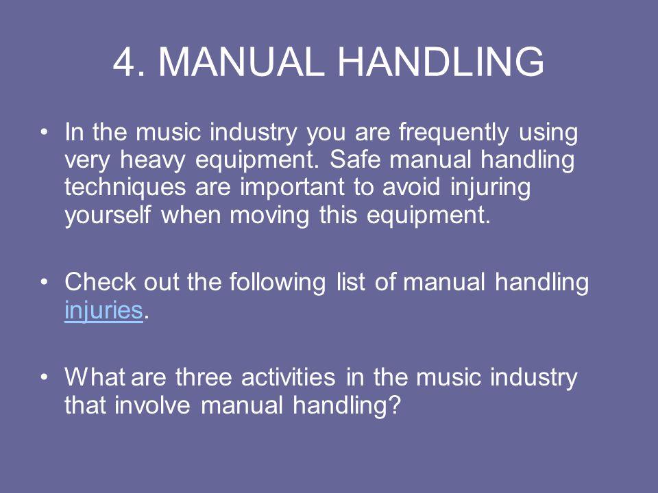 4. MANUAL HANDLING