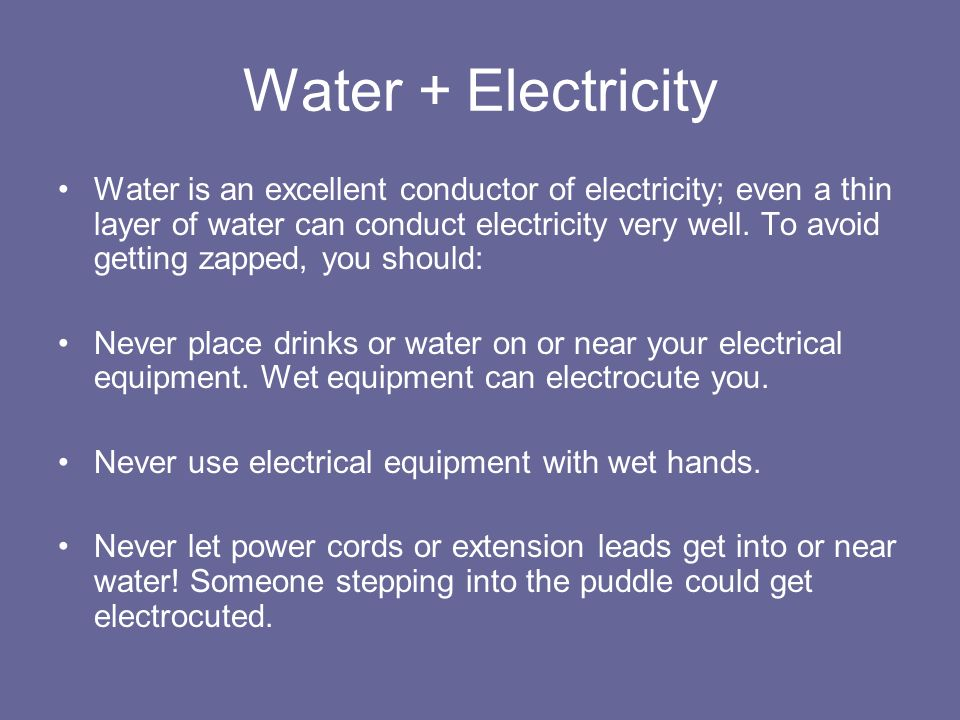 Water + Electricity