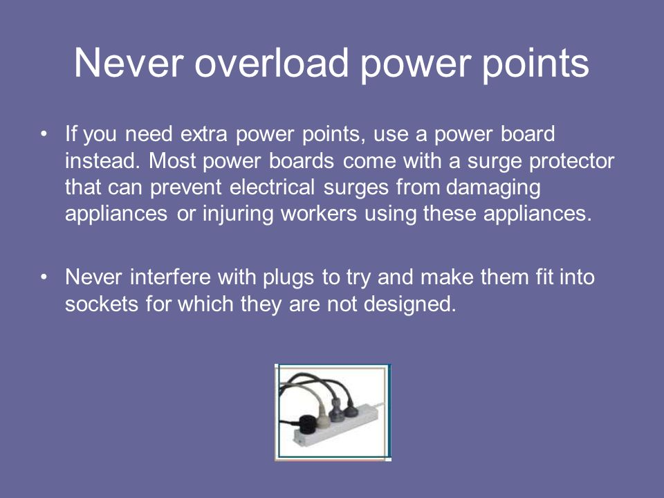 Never overload power points