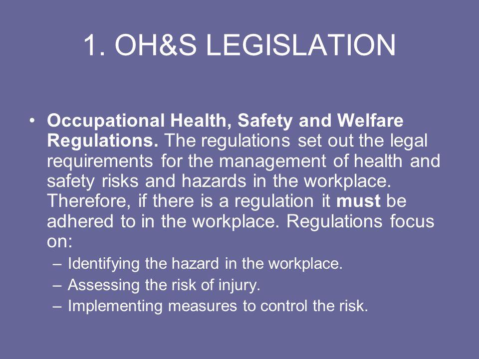 1. OH&S LEGISLATION