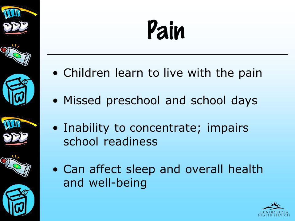 Pain Children learn to live with the pain