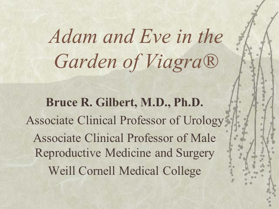 Adam and Eve in the Garden of Viagra®