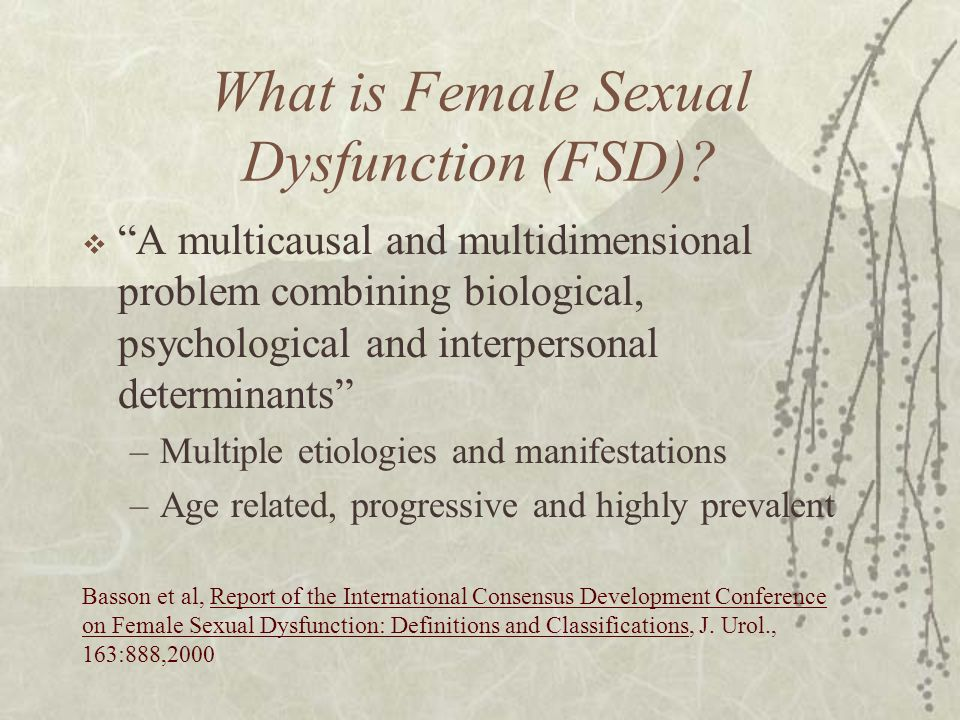 What is Female Sexual Dysfunction (FSD)