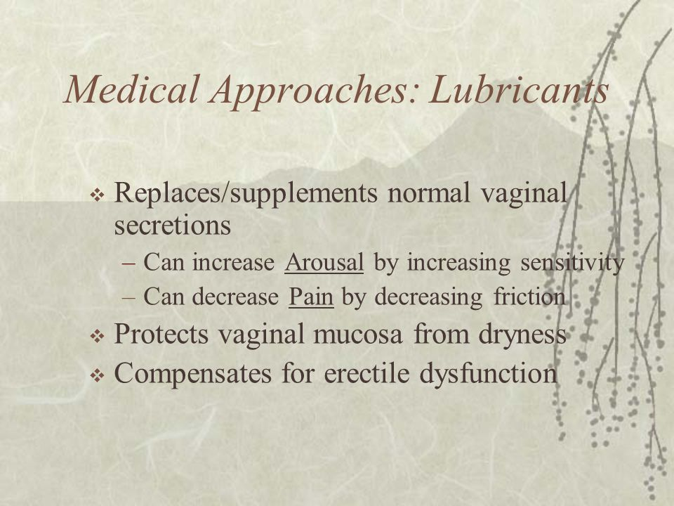 Medical Approaches: Lubricants